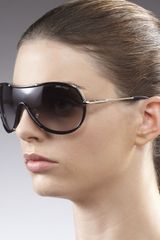 Jimmy Choo Anouk Shield Sunglasses Black - Lyst