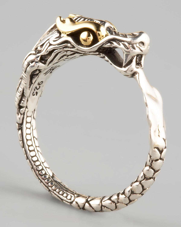 Lyst John Hardy Slim Dragon Ring In Metallic