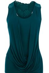 Karen Millen Draped Vest with Cutwork - Lyst