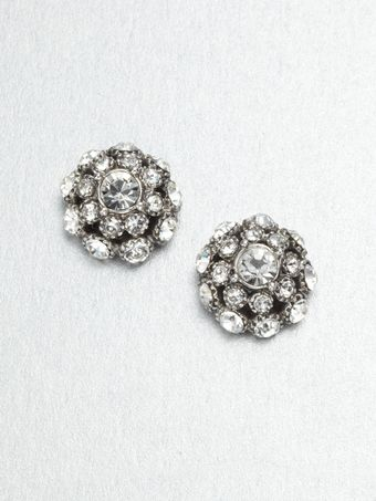 Kate Spade Crystal Encrusted Stud Earrings - Lyst