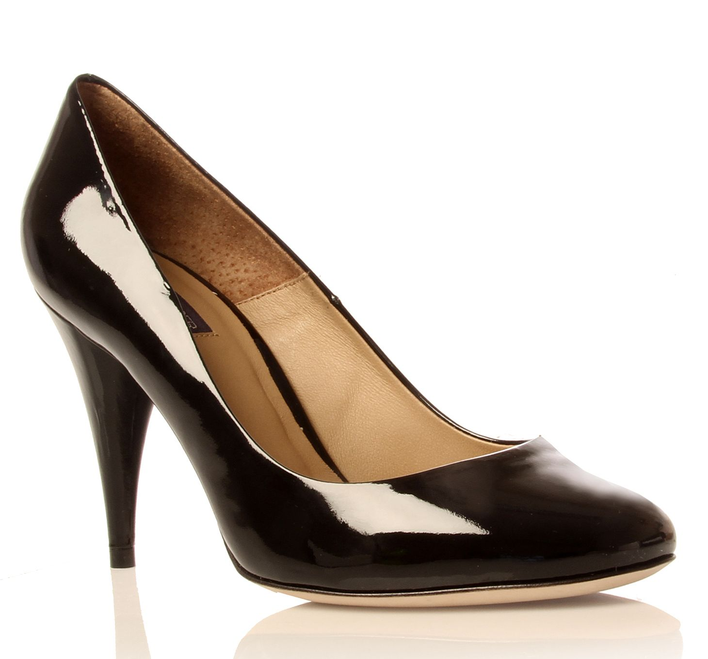 Kurt Geiger Esmeralda Court Shoes in Black