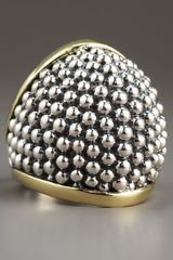 Lagos Domed Caviar Ring - Lyst