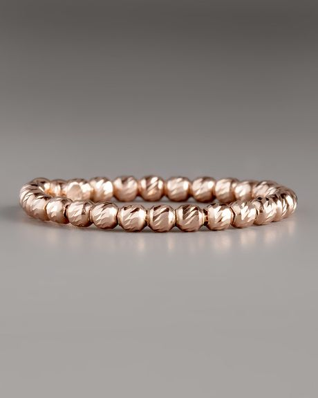 Lana Jewelry Olivia Bead Ring Rose Gold in Gold (rose)