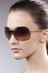 Marc By Marc Jacobs Shield Sunglasses  - Lyst