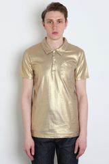 Marc Jacobs Marc Jacobs Mens Gold Polo Shirt in Gold for Men - Lyst