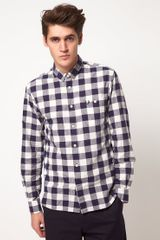 Fred Perry Textured Gingham Check Shirt - Lyst