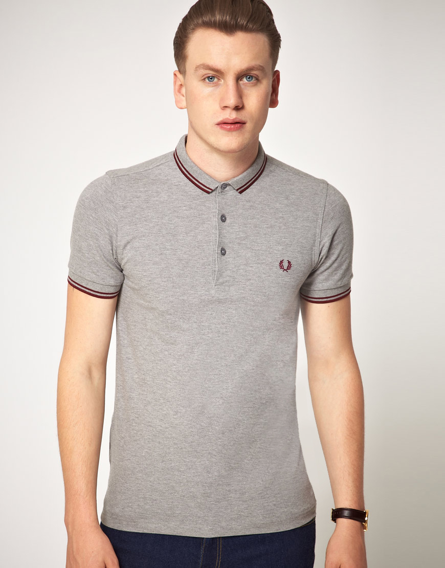 Lyst Fred Perry Fred Perry Slim Fit Micro Collar Polo Shirt In