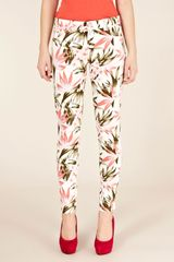 Oasis Oasis Tropical Print Cherry Crop in Multicolor (multi-coloured) - Lyst