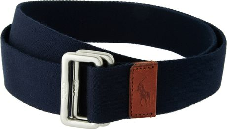Ralph Lauren Canvas Belt in Blue for Men (navy) - Lyst