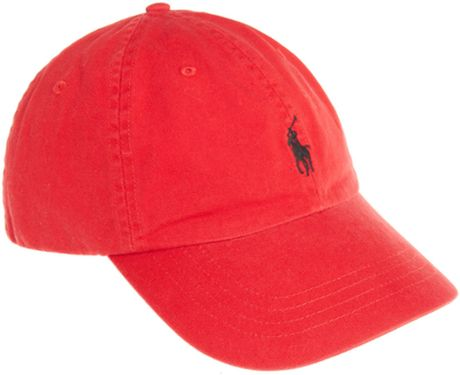ralph lauren polo ralph lauren classic cap in red for men. Black Bedroom Furniture Sets. Home Design Ideas