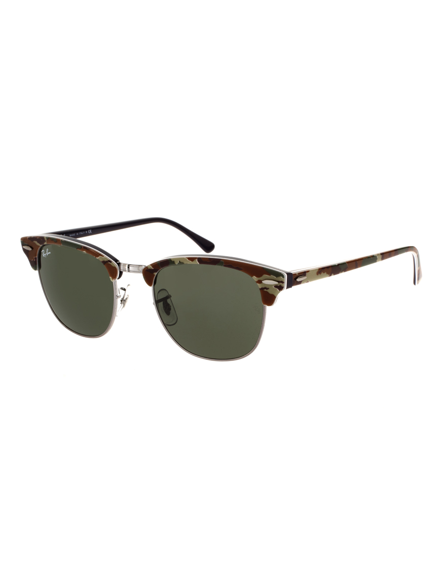 ray ban classic camo clubmaster sunglasses in brown for men lyst. Black Bedroom Furniture Sets. Home Design Ideas