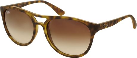 Ray-ban Rayban Moulded Aviator Sunglasses in Brown for Men (tortoiseshell) - Lyst