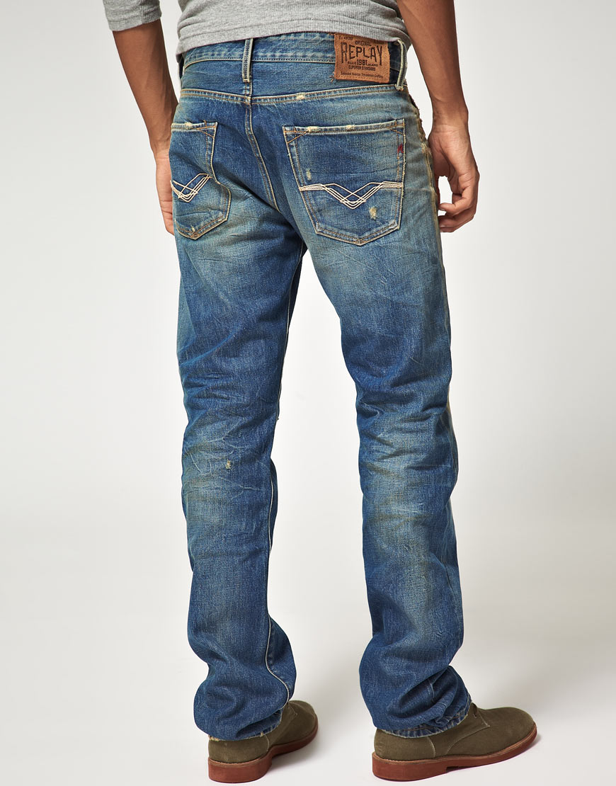 Brand New Unisex Mens Straight Fit Jeans Replay Clearance Wiki Amazing Price Sale Online Low Cost For Sale Ud0ioynPz