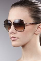 Tom Ford Leila Rounded Sunglasses  - Lyst