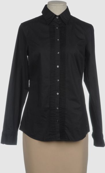 Tommy Hilfiger Long Sleeve Shirt in Black - Lyst