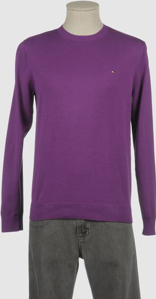 Tommy Hilfiger Crewneck Sweater in Purple for Men (blue) - Lyst