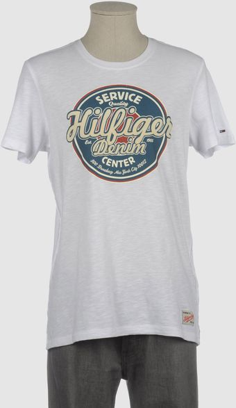 Tommy Hilfiger Denim Tommy Hilfiger Denim Short Sleeve Tshirts - Lyst