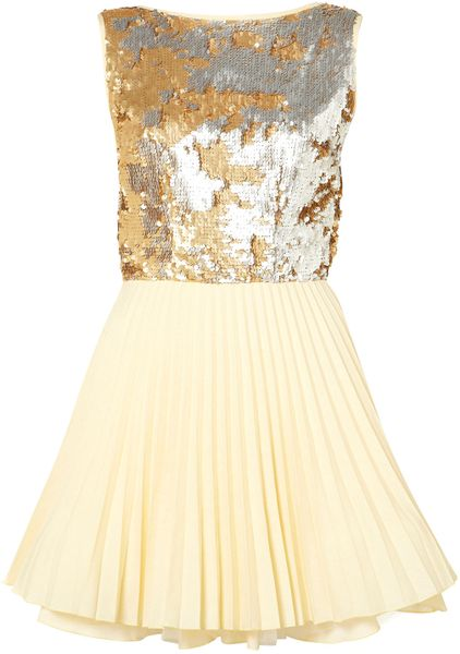 Topshop Vivienne Dress By Jones and Jones in Gold (multi)