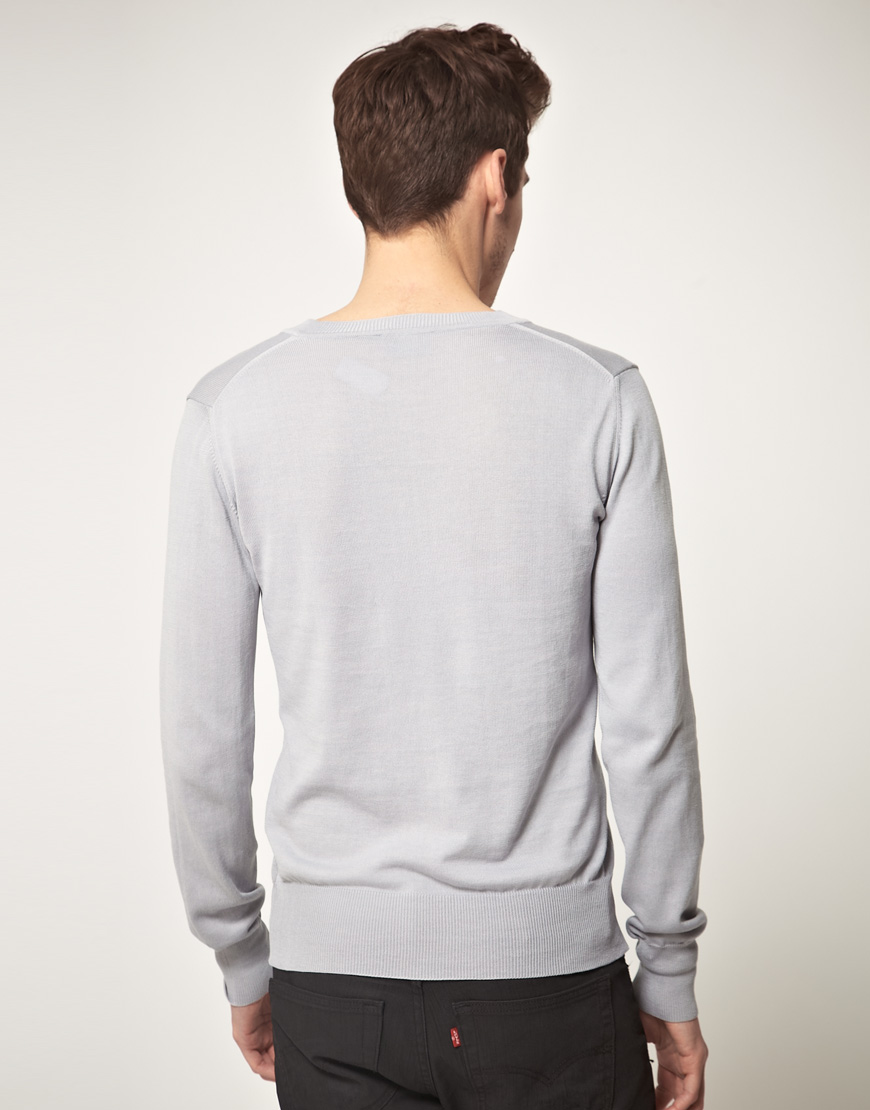 1986609be1213 Lyst - Vivienne Westwood Orb Logo Knitted Jumper in Gray for Men