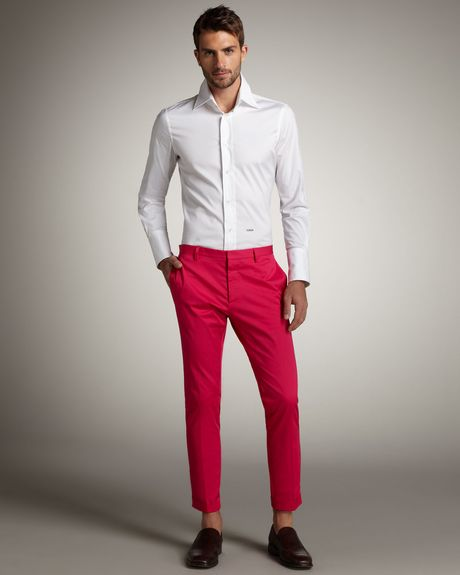 Dsquared2 Cool Guy Stretchcotton Pants in Pink for Men - Lyst