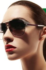 Gucci Basic Aviator Sunglasses - Lyst