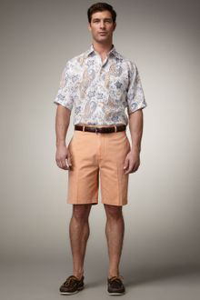Peter Millar Washed Twill Shorts Bellini - Lyst