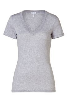Splendid Heather Grey Vneck Tee - Lyst
