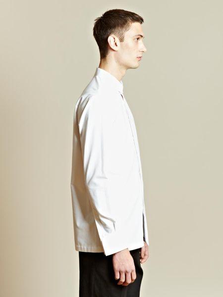 Thamanyah thamanyah mens oversized stiff collar shirt in for Stiff collar polo shirt