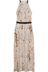 A.L.C. Tux Printed Silkcrepe Maxi Dress - Lyst