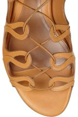 Alexander Mcqueen Leather Gladiator Sandals in Brown (camel) - Lyst