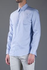 Armani Classic Shirt in Blue for Men - Lyst