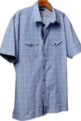 Banana Republic Shortsleeve Plaid Utility Shirt - Lyst