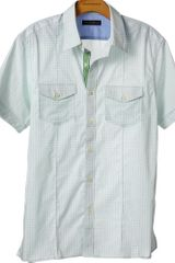 Banana Republic Shortsleeve Microprint Utility Shirt - Lyst