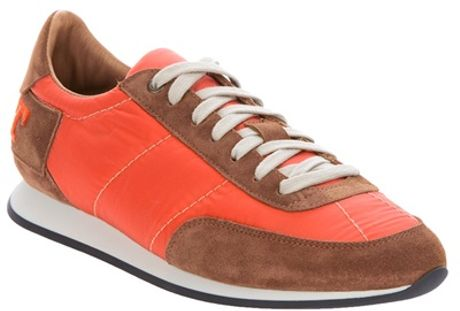 Burberry Stratford Trainer in Orange for Men - Lyst