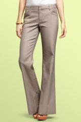 Gap Perfect Trouser Pants in Gray (gray stucco) - Lyst