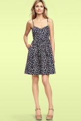 Gap Dot Sateen Dress in Multicolor (multi dot) - Lyst
