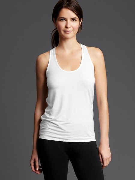 Gap Pure Body Racerback Tank in White - Lyst