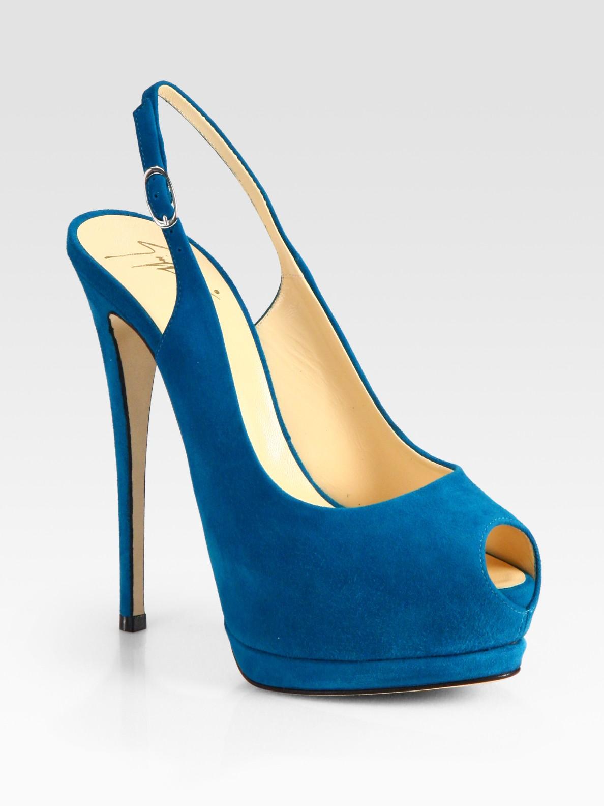Conception Zanotti Embelli Pompes Giuseppe Slingback - Bleu IwgNEGHCv