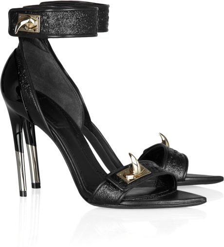 Givenchy Embellished Hagfish Sandals in Black - Lyst