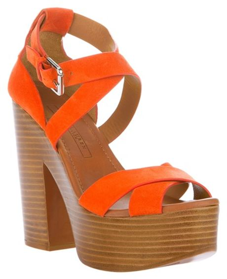 Ralph Lauren Alannah Sandal in Orange - Lyst