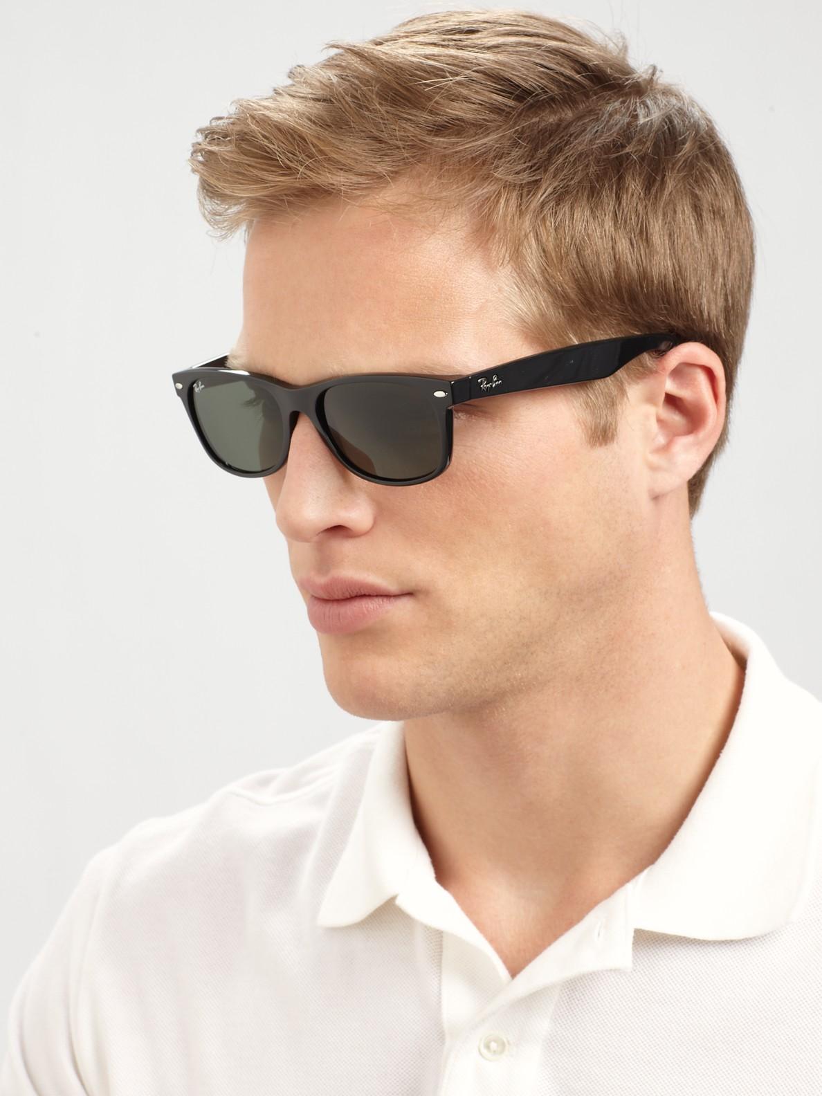 41e7b7dd7f Lyst - Ray-Ban New Wayfarer Sunglasses in Black for Men