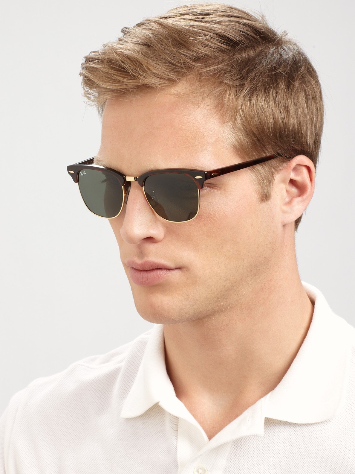 ray ban rb3016 classic clubmaster sunglasses 51mm  gallery. previously sold at: saks fifth avenue · men's ray ban clubmaster