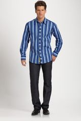 Robert Graham Gerardo Sport Shirt in Blue for Men - Lyst