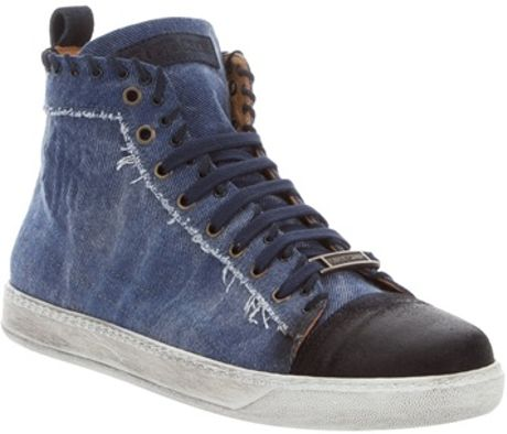 Roberto Cavalli Denim Hitop in Blue for Men (denim) - Lyst