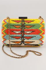 Serpui Marie Zanzibar Beaded Clutch - Lyst