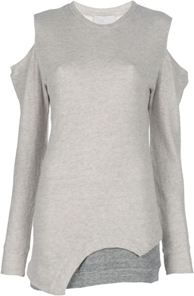 3.1 Phillip Lim Cut Out Top in Gray (nude) - Lyst