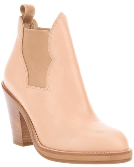 Acne Star Boot in Pink (beige) - Lyst