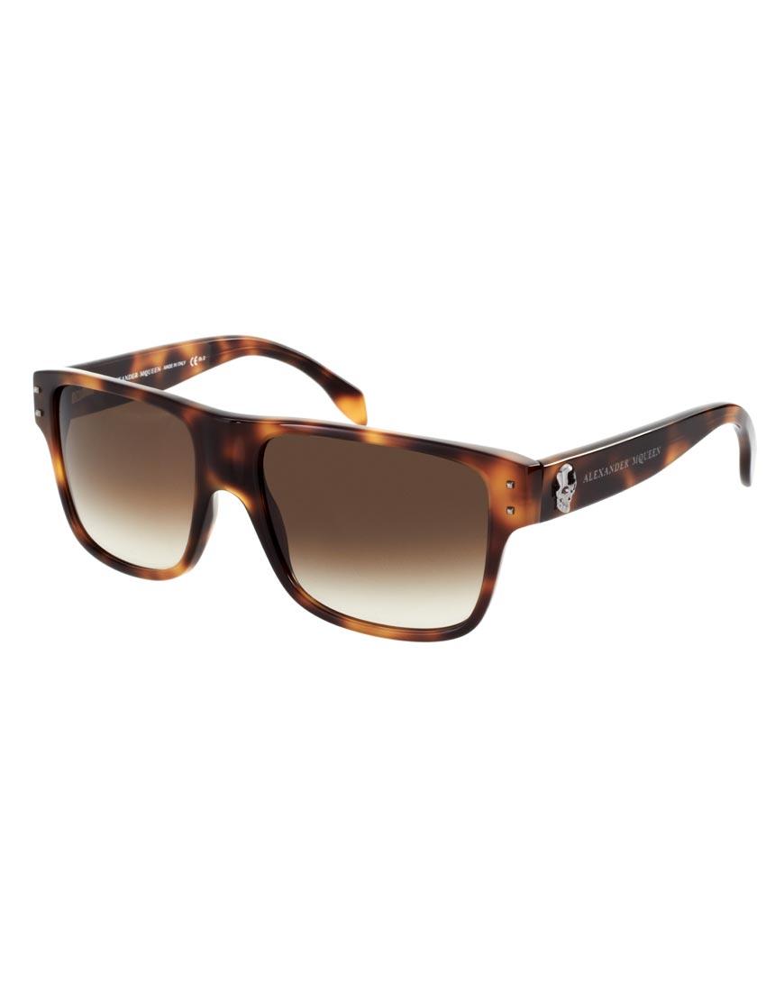 6194134f96 Lyst - Alexander McQueen Alexander Mcqueen Skull Wayfarer Sunglasses ...