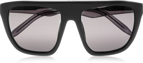 Alexander Wang Squareframe Acetate Sunglasses in Black - Lyst