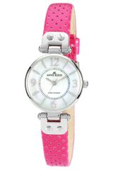 Anne Klein Womens Magenta Perforated Leather Strap 26mm 10 - Lyst